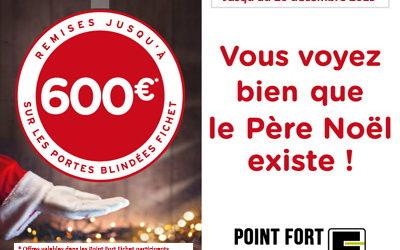 Jusqu'à 600 euros de remise sur votre porte blindée Fichet