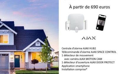 Votre alarme installée à partir de 690 euros – Garantie 2 ans