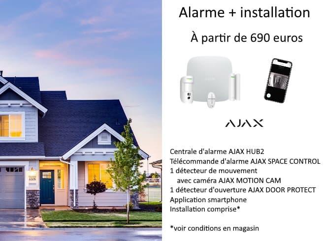 Votre alarme installée à partir de 690 euros