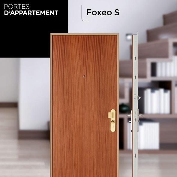 Porte blindée d'appartement Point Fort Fichet Foxeo S