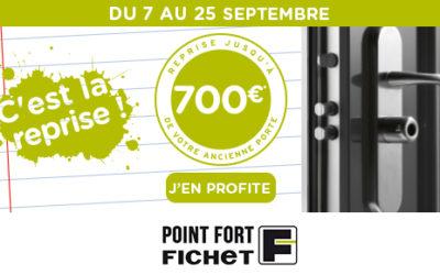 Reprise de votre ancienne porte jusqu'à 700 euros